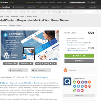 Themeforest: MediCenter - Responsive Medical WordPress Theme