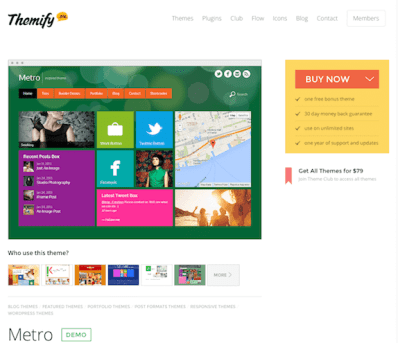 Themify: Metro WordPress Theme