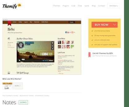 Themify: Notes WordPress Theme