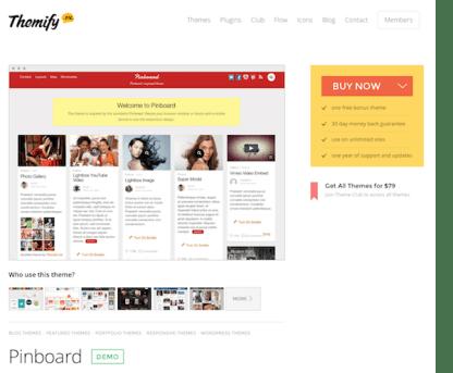 Themify: Pinboard WordPress Theme