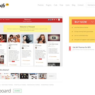 Themify: Pinboard WordPress Theme