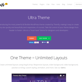 Themify: Ultra WordPress Theme