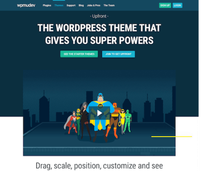 WPMU DEV: Upfront WordPress Theme Framework