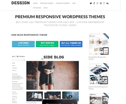 Dessign: Side Blog Responsive