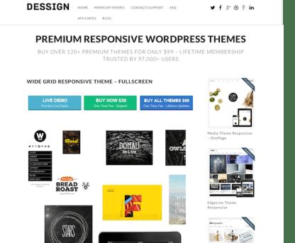 Dessign: Wide Grid Responsive