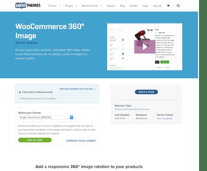 Extensión para WooCommerce: 360 Degrees Image