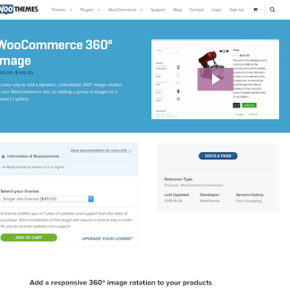 Extensión para WooCommerce: 360 Degrees Image