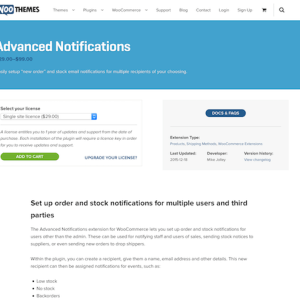 Extensión para WooCommerce: Advanced Notifications