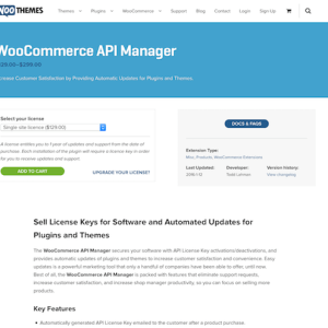 Extensión para WooCommerce: API Manager