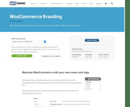 Extensión para WooCommerce: Branding