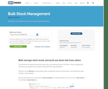 Extensión para WooCommerce: Bulk Stock Management