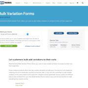Extensión para WooCommerce: Bulk Variation Forms
