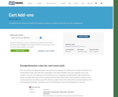 Extensión para WooCommerce: Cart Add-ons