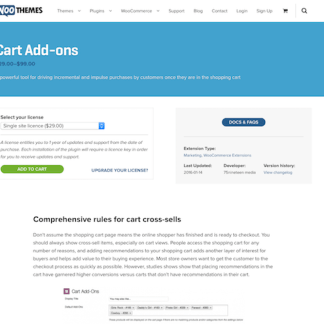 Extensión para WooCommerce: Cart Add-ons