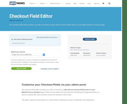 Extensión para WooCommerce: Checkout Field Editor