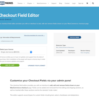 Extensión para WooCommerce: Checkout Field Editor