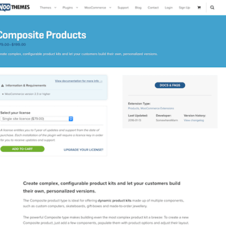 Extensión para WooCommerce: Composite Products