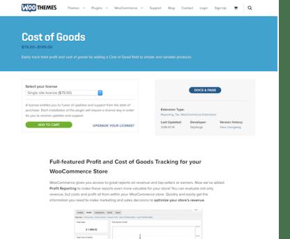 Extensión para WooCommerce: Cost of Goods