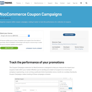 Extensión para WooCommerce: Coupon Campaigns