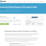 Extensión para WooCommerce: Customer Order Coupon CSV Import Suite