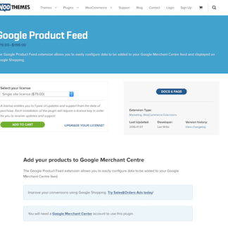 Extensión para WooCommerce: Google Product Feed