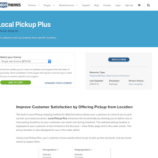 Extensión para WooCommerce: Local Pickup Plus