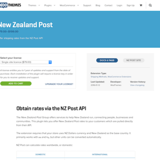 Extensión para WooCommerce: New Zealand Post