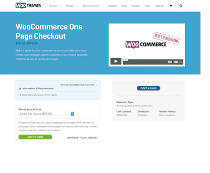 Extensión para WooCommerce: One Page Checkout