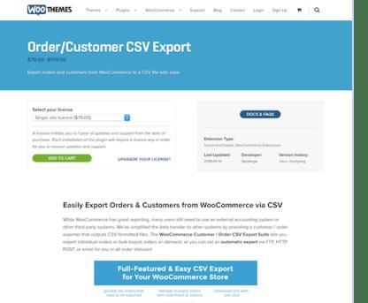 Extensión para WooCommerce: Order Customer CSV Export