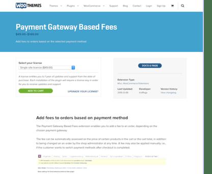 Extensión para WooCommerce: Payment Gateway based Fees