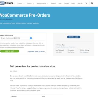 Extensión para WooCommerce: Pre-Orders