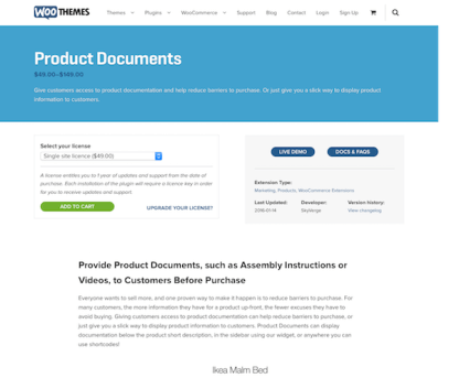 Extensión para WooCommerce: Product Documents