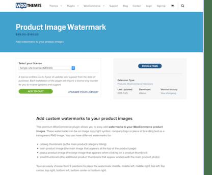 Extensión para WooCommerce: Product Image Watermark