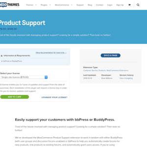 Extensión para WooCommerce: Product Support