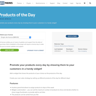 Extensión para WooCommerce: Products of the Day