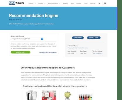 Extensión para WooCommerce: Recommendation Engine