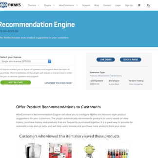 Extensión para WooCommerce: Recommendation Engine
