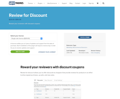 Extensión para WooCommerce: Review for Discount