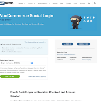 Extensión para WooCommerce: Social Login