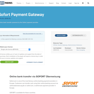 Extensión para WooCommerce: Sofort Payment Gateway