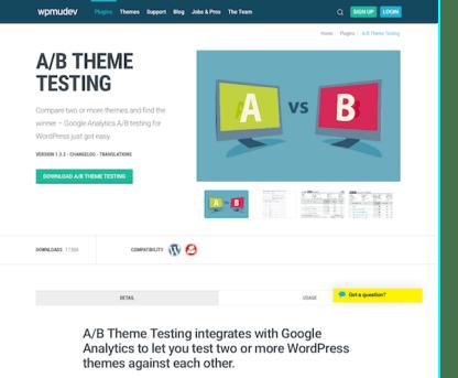 WPMU DEV: A B Theme Testing WordPress Plugin