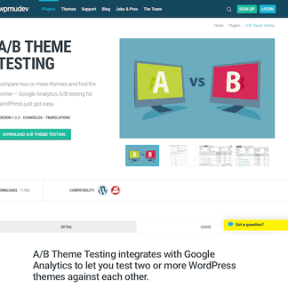WPMU DEV: A B Theme Testing WordPress Plugin