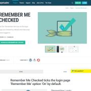 WPMU DEV: Remember Me Checked WordPress Plugin