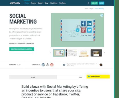 WPMU DEV: Social Marketing WordPress Plugin