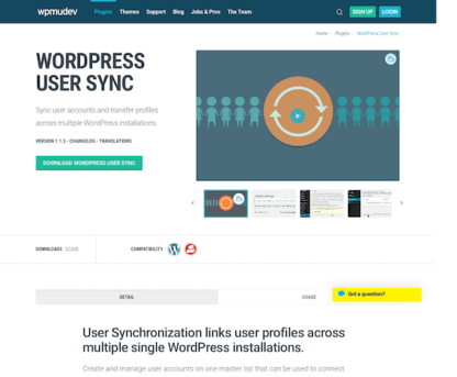 WPMU DEV: User Synchronization WordPress Plugin