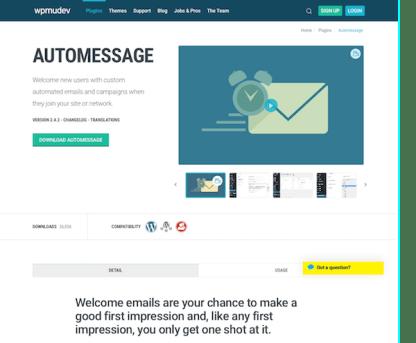 WPMU DEV: Automessage WordPress Plugin