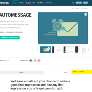 WPMU DEV: Automessage WordPress Plugin