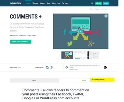 WPMU DEV: Comments plus WordPress Plugin