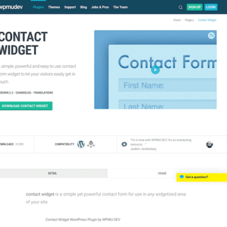 WPMU DEV: Contact Widget WordPress Plugin