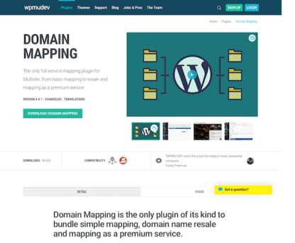WPMU DEV: Domain Mapping WordPress Plugin